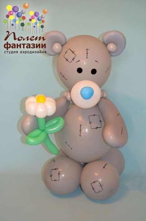 Как сделать мишку тедди из шаров
